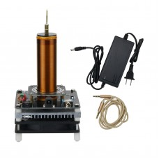 DIY Mini Tesla Coil Music 3.5MM Audio Input Support Cellphone Play Music 24V Fan Quiet Operation