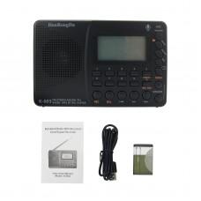 K-603 Bluetooth MP3 Player Recorder Full Band Radio AM FM SW Stereo Radio Recorder Digital Display
