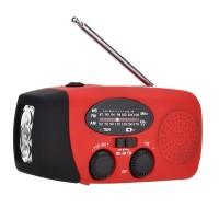 HRD-902 Emergency Radio Hand Crank Solar Radio For AM FM NOAA LED Flashlight Mobile Power Bank