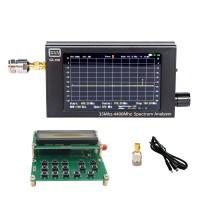 "GS-100 Mini Handheld Spectrum Analyzer 35MHz-4400MHz 4.3"" LCD + RF Signal Generator Signal Source"