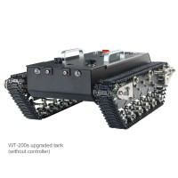 WT-200s Upgraded RC Tank Chassis Metal Track Tank Load 30KG Shock Absorber (Without Controller)