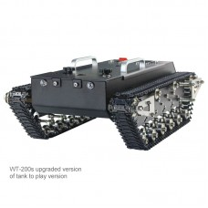 WT-200s Upgraded RC Tank Chassis Metal Track Tank Load 30KG Shock Absorber (Ready To Use Version)