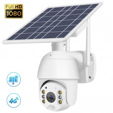 T16 2MP 4G Solar Camera Rotatable Dome Security Camera Outdoor PTZ Camera For Field Fish Pond