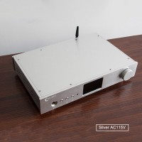 ES9038Pro DAC HiFi DAC Headphone Amplifier DSD Bluetooth Full Balance Decoding EP3Pro Silver AC115V