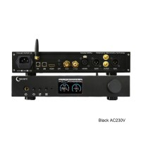 ES9038Pro DAC HiFi DAC Headphone Amplifier DSD Bluetooth Full Balance Decoding EP3Pro Black AC230V