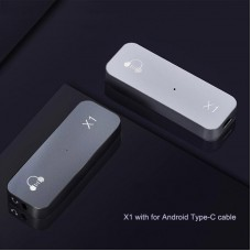 X1 Hifi Portable DAC Headphone Amplifier Lossless DAC Decoder w/ Type-C Cable For Android Cellphones