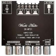 ZK-MT21 2.1 Channel Bluetooth Digital Power Amplifier Board Treble Bass Subwoofer 50W + 50W + 100W