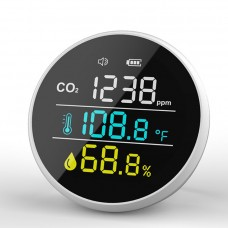 DM1305 Mini CO2 Carbon Dioxide Detector 400-5000PPM Temperature Humidity Air Quality Monitor Meter