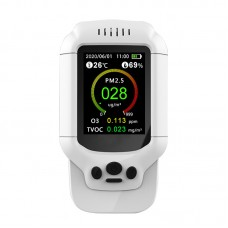 DM502-O3 7-In-1 Ozone Detector 0-5PPM PM2.5 PM1.0 PM10 Temperature Humidity TVOC Air Quality Monitor