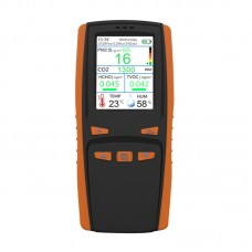 DM509 Handheld Indoor Air Quality Monitor PM2.5 CO2 HCHO TVOC Temperature Humidity AQI Detector