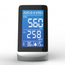 DM72D Indoor Air Quality Monitor Carbon Dioxide Detector CO2 PM2.5 Temperature Humidity Detector