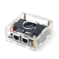 NanoPi R4S Mini Router 1GB Memory Acrylic Shell DIY Kit Unassembled RK3399 Two Gigabit Ethernet Port