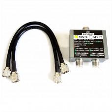 MX72 Antenna Combiner 2-Way Antenna Splitter VHF UHF Accessories For Walkie Talkie Two-Way Radio