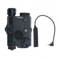 FMA AN/PEQ-15 Upgrade Version LED White Flashlight + Red Laser with IR Lenses Tactical Battery Box