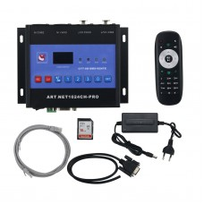 ARTNET-DMXSPI DMX 512 Stage Light Controller + Offline (Buttons + Remote Control + Serial Port)