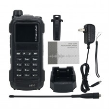 SHX-8800 Black Dual Band Walkie Talkie 5W Two Way Radio Bluetooth Write Frequency Desktop Charger
