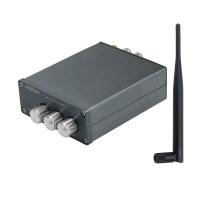 A2-8 100Wx2 Bluetooth Power Amplifier DAC Digital Mini Power Amp TPA3126D2 With Treble Bass Knobs