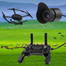 """V760A-3 Wearable Head Mounted Display 0.39"""" OLED 12X Eyepiece Adjustable Diopter 80-Inch Effect"""