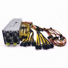 2400W Server Power Supply Graphics Card Power Supply Support 110V-270V For 8 Graphics Cards