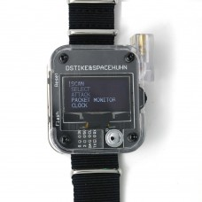 DSTIKE Deauther Watch V3 Wearable Deauther Watch ESP8266 Development Board 2.4GHz 3D Printed Case