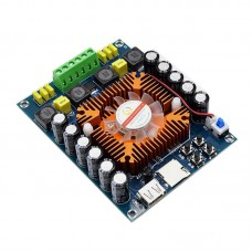 XH-A120 Digital Power Amplifier Board TDA7498E 200Wx2 With Remote Controller Support U Disk TF Card