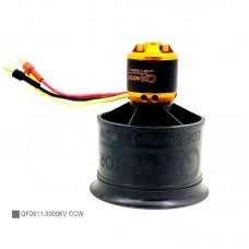 QF2611-3300KV CCW 50MM 12-Blade Ducted Fan Motor EDF Motor Set For Remote Control Model Aircraft