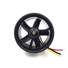 QF2611-4500KV 64MM Ducted Fan Motor 5-Blade EDF Model Airplane Brushless Motor For RC Drone