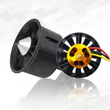 QF2822-3800KV 64MM Ducted Fan Motor 12-Blade EDF Remote Control Model Airplane Brushless Motor
