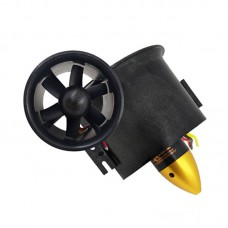 QF2822-3000KV 70MM Ducted Fan Motor 6-Blade EDF Motor Model Airplane Brushless Motor For RC Drone