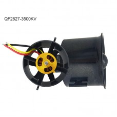 QF2827-3500KV 70MM Ducted Fan Motor 6-Blade EDF Motor Airplane Brushless Motor For RC Drone