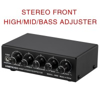 B056 Front Stereo EQ Effector Stereo Preamplifier Treble Mid-Tone Bass For 3 Mixers USB 5V Powered
