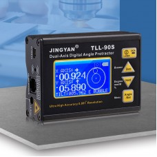 JINGYAN TTL-90S Dual-Axis Angle Protractor Angle Finder Magnetic Inclinometer 0.001° Resolution
