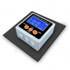Dual Axis Digital Angle Protractor High Precision Inclinometer ±40° One Magnetic Side Metal Shell