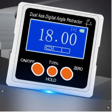 Dual Axis Digital Angle Protractor High Precision Inclinometer ±40° Three Magnetic Sides Metal Shell