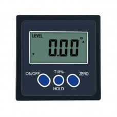 One-Axis Digital Angle Protractor High Precision Inclinometer 4x90° One Magnetic Side Plastic Shell