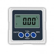 One-Axis Digital Angle Protractor High Precision Inclinometer 4x90° Three Magnetic Sides Metal Shell