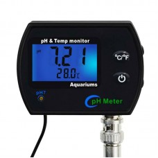 PHM-245 PH Meter PH & Temp Monitor Water Quality Meter w/ Backlight Continuous Monitor Aquariums Spa