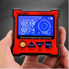 DXL360S Dual Axis Digital Angle Protractor Magnetic Mini Inclinometer Angle Finder 0.01° Resolution