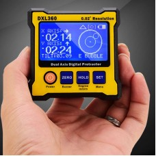 DXL360 Dual Axis Digital Angle Protractor Magnetic Mini Inclinometer Angle Finder 0.02° Resolution