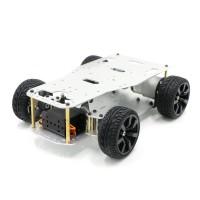Mini Ackerman Car Chassis Unassembled Hall Encoder w/ 8V Motor Reduction Ratio 1:10 Digital Servo