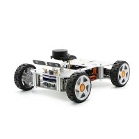 Ackerman ROS Car Robot Chassis Assembled For Raspberry Pi 4B RPLIDAR A2 Normal Type Load 10KG