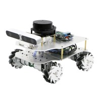 Mecanum Wheel ROS Car Robotic Car No Voice Module w/ A1 Standard Radar For Raspberry Pi 4B 2GB