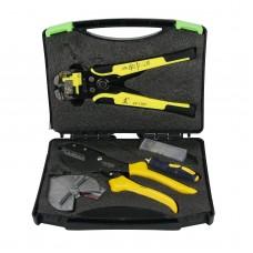 MC4 Solar Panel Crimping Tools Wire Crimper Wire Connector Cut Kit + Wire Stripper Crimping Pliers