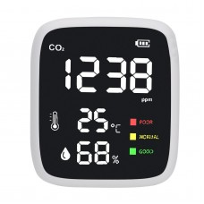 DM1308B Mini Carbon Dioxide Detector CO2 Detector Infrared Temperature Humidity Air Quality Monitor
