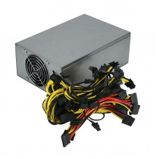 2000W ETH Miner Power Supply Dual-Fan PSU Power Supply Module 8 Graphics Card Power Supply