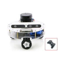 Omni Wheel ROS Car Robotic Car No Voice Module w/ A1 Customized Radar Master For Raspberry Pi 4B 4GB