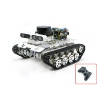 Tracked Vehicle ROS Car Robotic Car No Voice Module w/ A1 Customized Radar For Raspberry Pi 4B 2GB