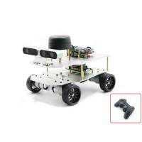 4WD ROS Car Robotic Car No Voice Module w/ A1 Standard Radar ROS Master For Raspberry Pi 4B 2GB