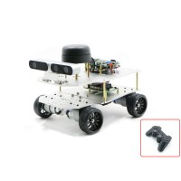 4WD ROS Car Robotic Car No Voice Navigation Module w/ A2 Radar ROS Master For Raspberry Pi 4B 4GB