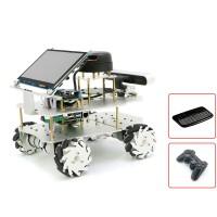 Mecanum Wheel ROS Robotic Car Touch Screen Voice Module A1 Customized Radar For Raspberry Pi 4B 2GB